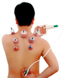Wholesale Cupping Therapy Sets - Hot 12-Cup Biomagnetic Chinese Cupping Therapy Set Olympic Games Phelps Christmas GIFT