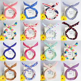 Wholesale Korean Cute Hair Accessories - Cute Korean Dots Bunny Rabbit Ear Ribbon Headwear Hairband Metal Wire Scarf Headband Hair Band Accessories Hair bands headband Multicolor