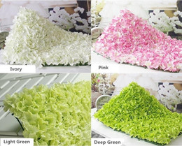 Wholesale Ivory Silk Flowers Wholesale - Ivory color Artificial craft Silk Hydrangea Flower Wall Wedding Backdrop flower Lawn for home garden wedding party decorations 60cm*40cm
