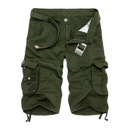 Wholesale Camo Cargo Pants Blue Green - Wholesale-2016 New Camo Military Shorts Summer Bermuda Camouflage Cargo Shorts Men Cotton Loose Outdoor Tactical Short Pants No Belt