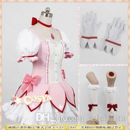 Wholesale Madoka Pink - New Pink Puella Magi Madoka Magica Cosplay Costumes Japanese Animal Cosplay Dresses Sexy Women Actress Costume Any Size Accept