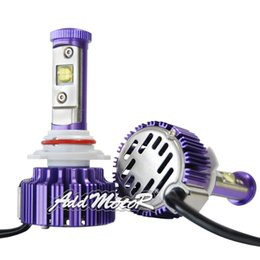 Wholesale Headlight W Cree - Addmotor Purple Auto LED Headlight CREE LED 9006 6000K Cool White Bulbs w  Clear Arc-Beam Kit 2x Plug&Play 30W 3500LM LED Headlamp AP9006