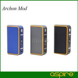 Wholesale Metal Box Power - Aspire Archon Mod 150W TC Box Mod Powered By Dual 1860 Battery Firmware Upgradeable 100% Original
