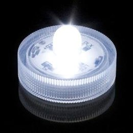 Wholesale Wholesale Plastic Flameless Candles - 48pcs Waterproof Submersible Battery Operated Flameless LED Tea Lights Candle Lights Lamps