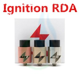 Wholesale Wholesale Ignition - Ignition RDA Rebuildable Atomizers Clone 5 Colors Vaporizer E Cigarette 22mm Larger Air Chamber 2 POST fit 510 Mods DHL Free