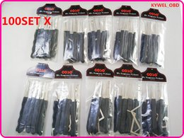 Wholesale Tension Wrenches - 100 Set Lot GOSO Black 9 pcs hook lock pick set with Tension wrench for dimple locks hot sale DHL free
