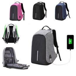 Wholesale Laptop Panels - Anti-theft Mens Womens Laptop Notebook Backpack With USB Charging Port