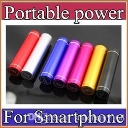 Wholesale External Battery Charger Power Banks - Fashionable aluminum Lipstick 2600 mAh Power Bank Portable Backup External Battery USB Mobile charger Mobile Power Supply A-YD