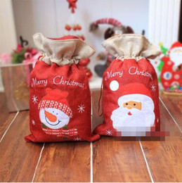 Wholesale Gift Wrapped Presents - Christmas Gift Bag The Santa Claus Gift Present Bag Gifts Sack Ornaments Christmas Decoration Supplies Gift Wraps CCA7311 50pcs