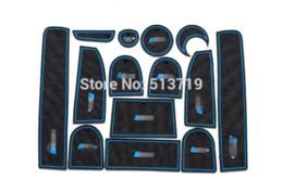 Wholesale Audi Q7 Interior - car Non-Slip Interior cup cushion Door Mat covers Cup Mat stickers Fit For audi Q7 2010 to 2015 14pcs per set