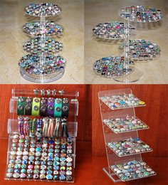 Wholesale Jewelry Chain Display - Wholesale-Rivca Snap Button Jewelry Newest Acrylic Display Bracelets Bangles Detachable Set Snap Buttons Display Charm Bracelet For women