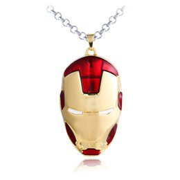 Wholesale Iron Man Silver - Large Size Iron Man 3D Animation Jewelry Pendant Alloy Keychain Pendant Men Jewelry Marvel Jewely