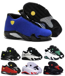 Wholesale Basketball Sneakers Authentic - Airlis Basketball Shoes Retro 14 Sneakers Men 2016 White Authentic Retro 14s Sports Homme Low Retro Shoe
