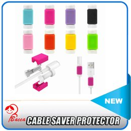 Wholesale Data Cable Earphones - USB Lightning Data Charger Cable Saver Protector For iPhone 5 5s 6 6S Plus ES ipad Headset Protection Earphone Wire Cord Protective