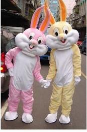 Wholesale Hero Mascots Character Costume - Hot Free Shipping Bugs Bunny Costumes Mascot Adult Cartoon Mascot Performance Cute Cartoon Rabbit character Mascot
