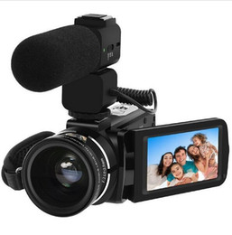 Wholesale Use Professionals - Full HD Digital Camera Z20 1080P 30FPS Portable Digital Video Camera Recorder with External Microphone Rotate LCD Screen US Plug
