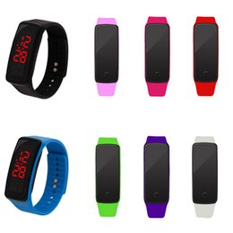 Wholesale Men Gel Watches - 8 Pack Wholesale Women Men Kids LED Sports Bracelet Wrist Watches Jelly Gel Silicone Band Digital Wristwatches Gifts Set