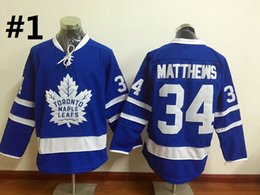 Wholesale Wholesale Leafs Jerseys - 2016 New Men Toronto Maple Leafs Ice Hockey Jerseys Cheap #34 Auston Matthews Jersey Authentic Stitched Jerseys Mix Order !