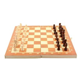 Wholesale Wooden Chess Boards - New Arrival Quality Classic Wooden International Chess Set Board Game 34cm x 34cm Foldable Kids Gift Fun Hot
