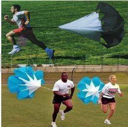 Wholesale Power Chutes - soccer running training drag parachute speed chute outdoor sporting parachute physical training equipment track field power training