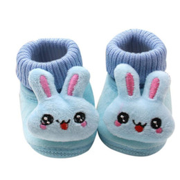 Wholesale Cartoon Girls Boots - Wholesale- Baby Boy Girl Boots Soft Bottom Anti-slip Shoes Bootie Infant Toddler Prewalker Autumn Winter Baby Cartoon Shoes