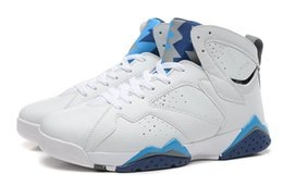 Wholesale Slip Basketball Shoes - 2015 New Arrival French Blue 7 VII Cheap Mens Basketball Shoes Athletic Shoes Sport Shoes White Blue Red Sneakers 5 Colors