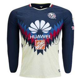 Wholesale America Long - 2017-18 Club America Long Sleeve O.Peralta S.Romero Futbol Camisa Soccer Jerseys Football Camisetas Shirt Kit Maillot Liga MX
