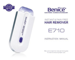 Wholesale Wax For Hair Removal - Benice E710 Electric Facial Hair Epilator Remover Professional Hair Removal Device For Body Women 60pcs lot Free DHL Shipping