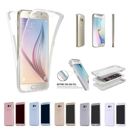 Wholesale S4 Full Case - For Samsung Galaxy S4 S5 S6 S6 Edge S7 S7Edge S7 Plus Note3 4 5 J5 J7 A310 A5 360 Degree Full Protection TPU Silicone Case