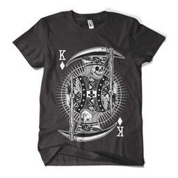 Wholesale Mens Sleeveless Tees - Skull King T Shirt Fashion Print Indie Hipster Design Mens Girls Tee Top New Brand Clothes Summer 2017