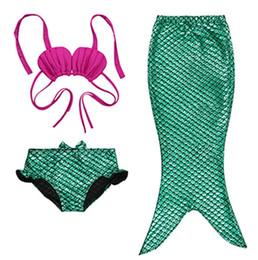 Wholesale Girl Children Swimwear - 2016 mermaid Children swimwear girls bathing suit three-piece suit