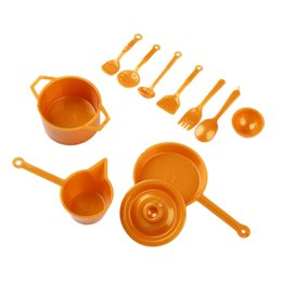 Wholesale Miniature Dishes - Wholesale- 11pcs Set Dollhouse Cups Dish Tableware Miniatures Toy for Kids Children