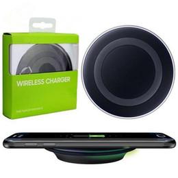 Carregador de Carregamento rápido Sem Fio Pad bancos de energia para Samsung Nota Galaxy S6 s7 Borda pad móvel com pacote de varejo frete grátis cheap note edge mobile de Fornecedores de nota borda móvel