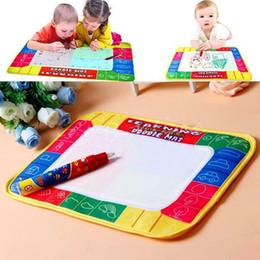 Gekritzel zeichnung spielzeug online-Kinder Wasser Leinwand Schreiben Graffiti Decke Magie Zeichnung Mini Spielzeug Taschen Stift Malerei Doodle Board Aquadoodle Spielzeug Geschenk