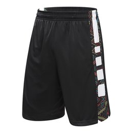 Wholesale Men Clothes Usa - New USA Basketball Shorts Outdoor Sport Trunks Loose Casual Basketball Clothing For Men Plus Size Running Zipper Pocket Trunks Big Size 4XL