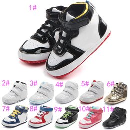 Wholesale Skid Shoes - 2017 Baby kids letter First Walkers Infants soft bottom Anti-skid Shoes Autumn Winter Warm Toddler shoes 11colors choose freely C01