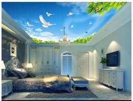 cheap 3d sky mural de Fornecedores de mural do céu 3d