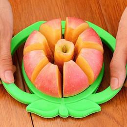 Mele tagliate online-New Corer Slicer Easy Cutter Cut Fruit Knife Cutter Per Apple Pear Mini affettatrice per mele in acciaio inox WX-C35