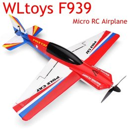Wholesale Electric Model Airplane - Wholesale-Upgraded WLtoys F939 2.4G 4CH 6 Axle EPS Micro Pole Cat RC Model Airplane Plane RTF