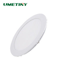 Wholesale Led Recessed Ceiling Light Color - Wholesale- UMETINY LED Panel Light 3W 6W 9W 15W 18W Downlight 3 Color Changeable Round Ceiling Lamp Recessed LED Down Light SMD2835 Blubs