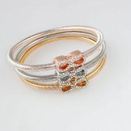 Wholesale Love Ring Gold Vintage - 2017 new 3 color set bowknot Crystal Bracelet For Women Designer Wholesale Punk Party Vintage Round Bracelets Bangles Chain Fashion Jewelry