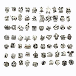 Wholesale European Oval Beads - Mix 29 Style Big Hole Loose Beads charm For Pandora DIY Jewelry Bracelet For European Bracelet&Necklace-J917