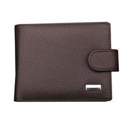 Wholesale Cards Holder Men S - NEW Man Wallet with Leather ID Card Holder Handbag Purse Men\'s Magnetic Snap Bifold Coin Wallets