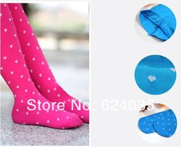 Wholesale Yellow Tights Pink Dots - Wholesale Sweet Candy Solid Velvet Children Dancing Kids Leggings with Small Dot for Baby Girl Spring Autumn 20pcs lot