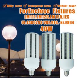 Wholesale Flood Metal - LED Corn Bulb, Street and Area Lighting, 40 Watt, Large Screw Base (E39), 5000K , 360° Flood Light, Metal Halide Replacement, UL-Listed