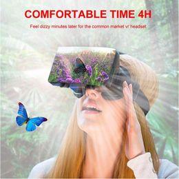 2019 google cardboard 20 компл. / лот 3D очки Google картон виртуальной реальности 5-й высокое QualityGear VR Box 2.0 версия гарнитура BOX беспроводной пульт дистанционного управления дешево google cardboard