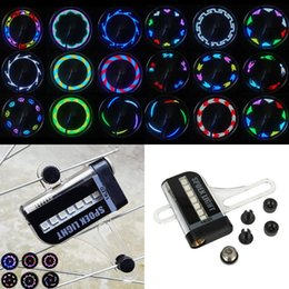 Wholesale Display 14 Led - 14 LED 8 Colors Bicycle Motorcycle Cycling Spoke Wheel LED Light 32 Patterns Powered by 1xAAA Battery Dual Side Display