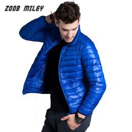 Wholesale Warm Longer Jackets - Fall-2016 Autumn Winter Duck Down Jacket Ultra Light Thin Warm Long Sleeve Parka Solid Stand Collar Outerwear Coats Large Size S-XXXL