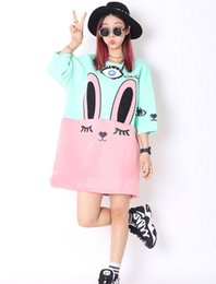 Wholesale Anime Appliques - Wholesale- Adorable Cute Soft Cotton Anime Pattern Shirt Women Girl Sweet Lolita Japan Kawaii Female Tops Cat Bunny T Shirts Lady Plus Size