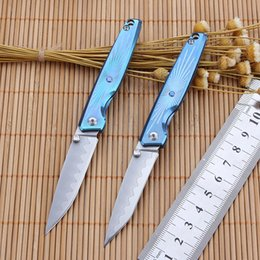 Wholesale Vg Pocket - CH Folding Knife With titanium Handle Pocket Knife With VG-10 Blade free shipping Camping Tool Survival Hunting knife For Men Gift